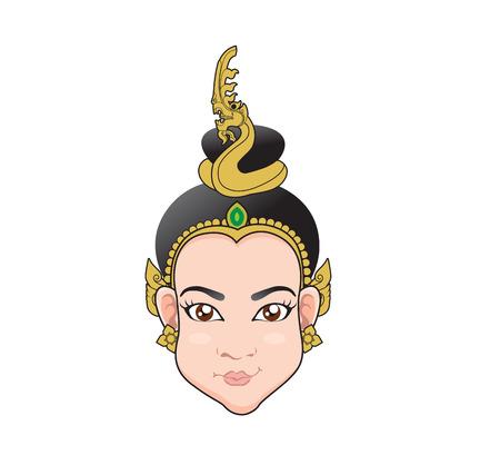 Woman Naga face Cartoon
