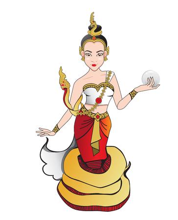 Woman Naga Cartoon 일러스트