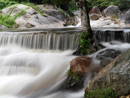 Kaew Chan Waterfall in Ratchaburi, Level three, Thailand