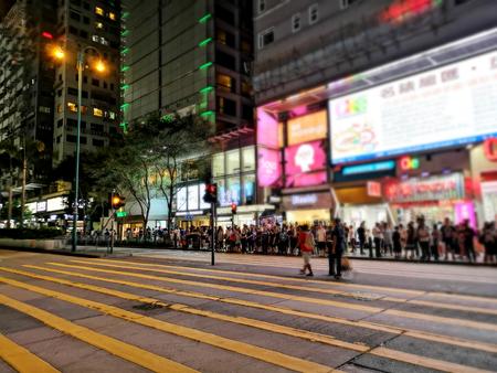 Traffic in Hong Kong at night, Night light