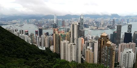 city view in Hong Kong, top view