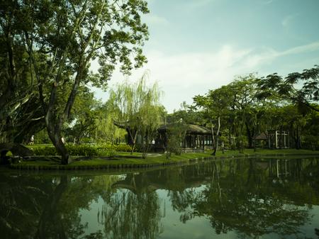 Suan Luang Rama 9 Park. Parks large city center in Bangkok, Thailand