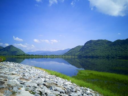 The Tha Thung Na Dam at Kanchanaburi Province, Thailand, The Blue Sky