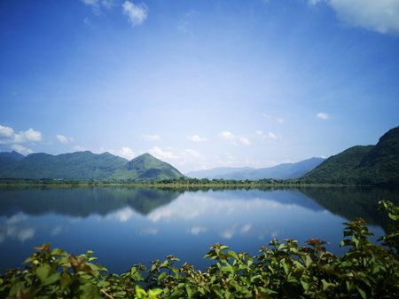 The Tha Thung Na Dam at Kanchanaburi Province, Thailand 스톡 콘텐츠