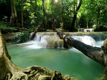 Erawan Waterfall in Si Sawat, Kanchanaburi, Thailand
