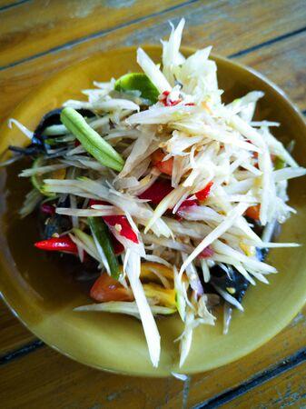 Papaya Salad with Salted Crab and Fermented Fish