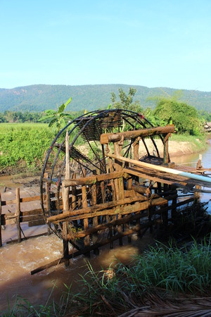 water wheel: Ancient water wheel