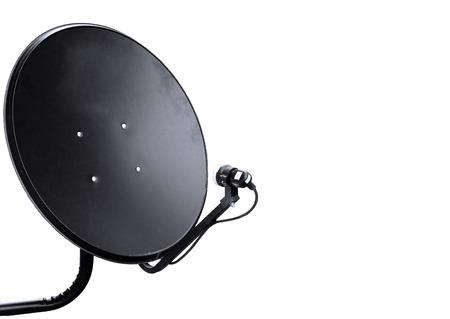 satellite dish: Antenas Parabólica aislados sobre fondo blanco Foto de archivo