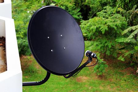 satellite dish: Satellite dish antennas