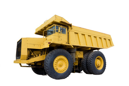 Mining truck isolated