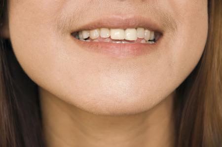 smile face: woman smile teeth face
