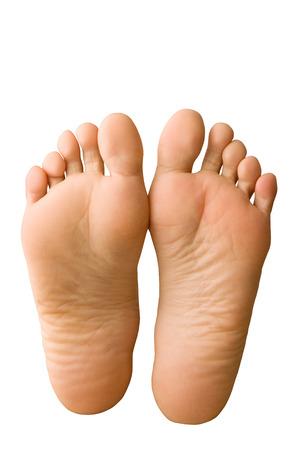 Paar feet.barefoot Stockfoto