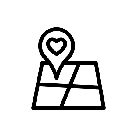 Navigation vector line icon, symbol, mobile app, sign. Illustration on white background.