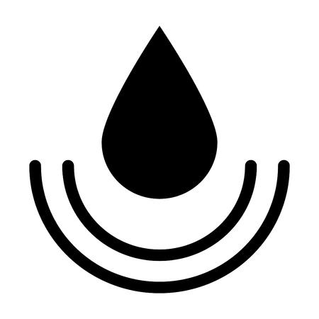 Water vector line icon, sign, illustration. Illustration