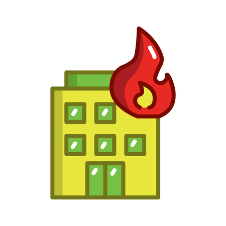 firefighter concept vector thin line icon,fire, symbol, sign, illustration on isolated background Illustration