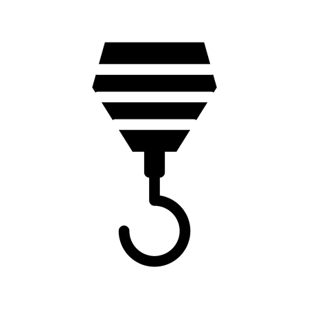 icon of hook worker,building,symbol,sign Illustration