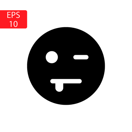 Emoticon face in pain in black and white Illustration. Stock Illustratie