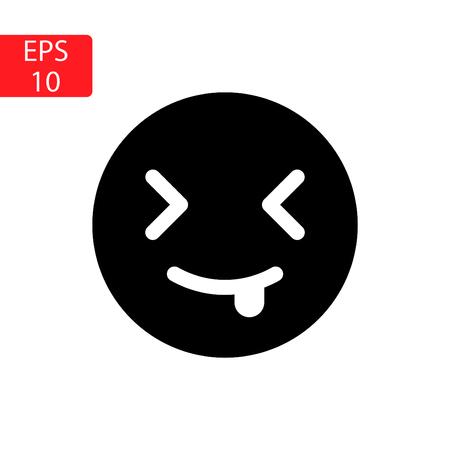 mock face emoticons Vector illustration. Illustration