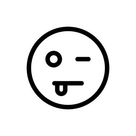 Emoticon showing face pain.