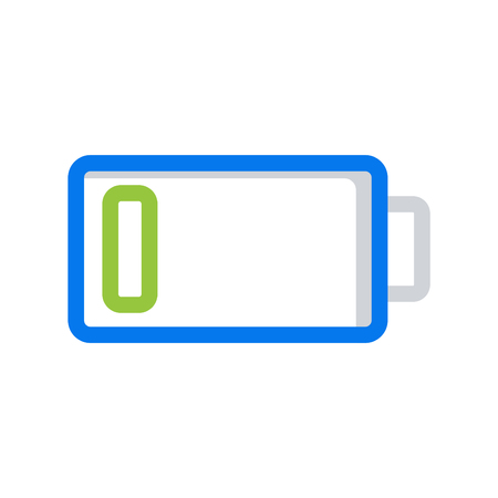 Battery load icon, stock vector illustration flat design style