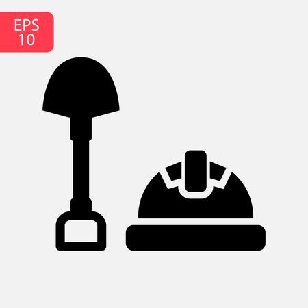 Shovel icon symbol. Premium quality isolated digging element in trendy style. Stock Illustratie