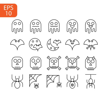 Halloween icon isolated on white background. Vector design Illustration