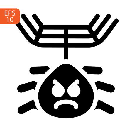 Spider icon illustration isolated vector sign symbol Stock Illustratie
