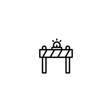 Icon Barrier Vector Graphic Illustrator perfect for Transportation Illustration