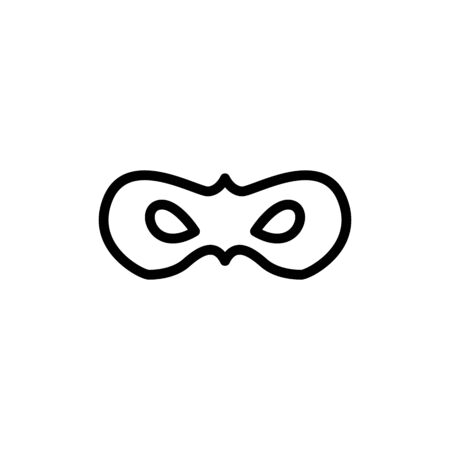 Carnival mask line icon, outline vector sign, linear style pictogram isolated on white. Masquerade symbol, logo illustration. Editable stroke on white background
