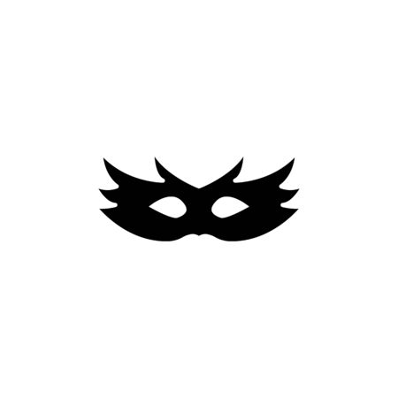 Carnival mask glyph icon, thin line vector sign, linear style pictogram isolated on white. Masquerade symbol, logo illustration. Editable stroke on white background