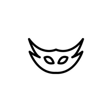 Carnival mask line icon, outline vector sign, linear style pictogram isolated on white. Masquerade symbol, logo illustration. Editable stroke on white background Illustration