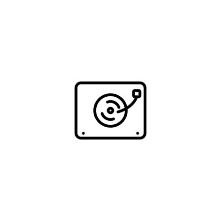 Music Icon Traditional vector templates illustrator graphic design thin line icon on white background good for Festival Иллюстрация