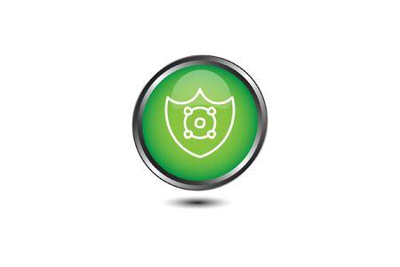 icon flat protect from Corona Virus Sign Icon. Pneumonia. COVID-19 NCOV-2019 Corona Virus Abbreviation. Bacteria Scheme. Vector Illustration graphic design on white background good for information