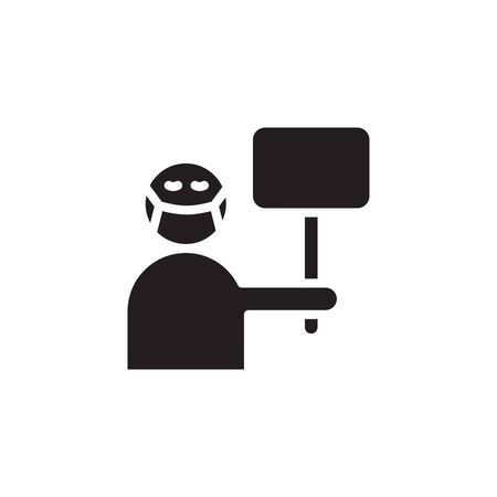 icon save human from Corona Virus Sign Icon. Pneumonia. COVID-19 NCOV-2019 Corona Virus Abbreviation. Bacteria Scheme. Vector Illustration graphic design on white background good for information Ilustracja