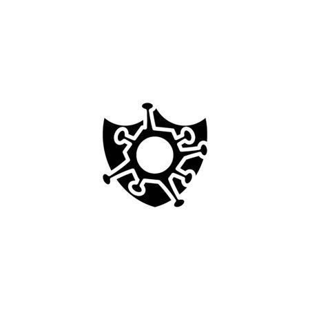 icon protect from Corona Virus Sign Icon. Pneumonia. COVID-19 NCOV-2019 Corona Virus Abbreviation. Bacteria Scheme. Vector Illustration graphic design on white background good for information