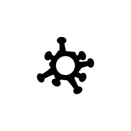 icon style glyph Corona Virus Sign Icon. Pneumonia. COVID-19 NCOV-2019 Corona Virus Abbreviation. Bacteria Scheme. Vector Illustration graphic design on white background good for information