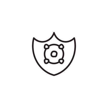 icon thin line protect from Corona Virus Sign Icon. Pneumonia. COVID-19 NCOV-2019 Corona Virus Abbreviation. Bacteria Scheme. Vector Illustration graphic design on white background good for information