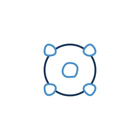 Icon Thin line blue color , Coronavirus icon set for infographic or website. New epidemic (2019-nCoV). Safety, health, remedies and prevention of viral diseases. Isolation. Vector illustration graphic