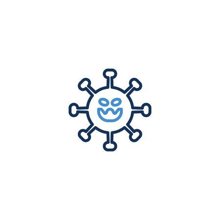 Icon Thin line blue color , Coronavirus icon set for infographic or website. New epidemic (2019-nCoV). Safety, health, remedies and prevention of viral diseases. Isolation. Vector illustration graphic Zdjęcie Seryjne - 142987061
