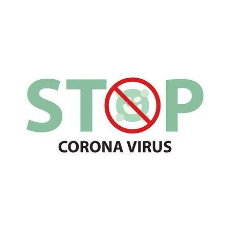 Icon Flat Coronavirus icon, Inscription COVID-19 on white background vector flat design,icon forbidden for coronavirus Zdjęcie Seryjne - 144386417