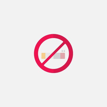 flat icon no smoking. Simple icon style for muslim ramadan and eid al fitr celebration.on white background