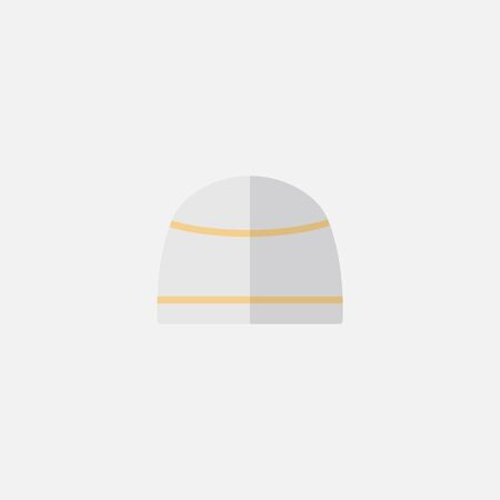 icon flat hat mustache vector isolated, turkish symbols , suitabel for ramadan kareem muslim prayer , on white background