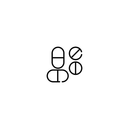 Thin line Icon medicine icon, Suitable for use on web apps, mobile apps, Vector illustration editable stroke . 64 x 64 pixel perfect on White Background Ilustracja