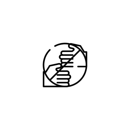 Thin line Icon don't touch icon, Suitable for use on web apps, mobile apps, Vector illustration editable stroke . 64 x 64 pixel perfect on White Background