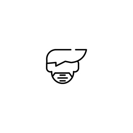 Thin line Icon Man face with mask icon, Suitable for use on web apps, mobile apps, Vector illustration editable stroke . 64 x 64 pixel perfect on White Background Zdjęcie Seryjne - 144026948