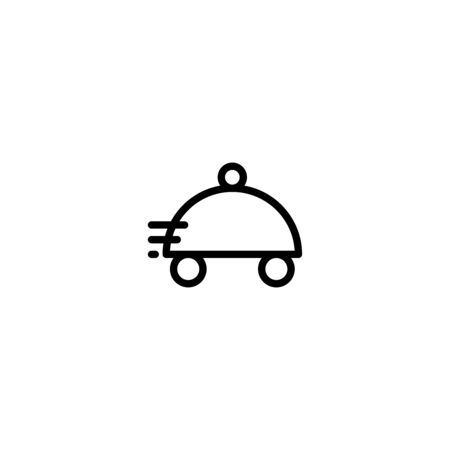 Thin line icon food delivery icon vector, Pictogram flat outline design for apps , Isolated on white background, Vector illustration, editable stroke, 48x48 pixel perfect Zdjęcie Seryjne - 144027023