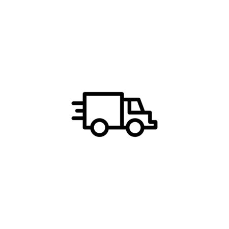 Thin line icon Truck . Delivery Truck symbol vector sign isolated on white background. Simple logo vector illustration for graphic and web design, editable stroke . 48x48 pixel perfect Zdjęcie Seryjne - 144027001