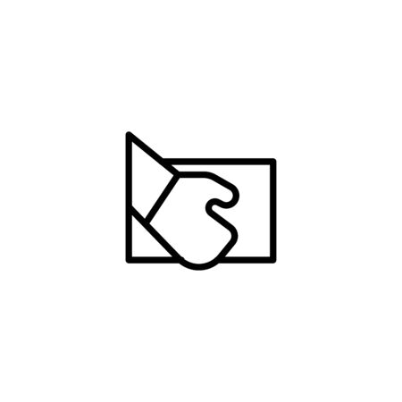 Thin line icon Delivered Box Verification icon, Pictogram flat outline design for apps , Isolated on white background, Vector illustration, editable stroke, 48x48 pixel perfect