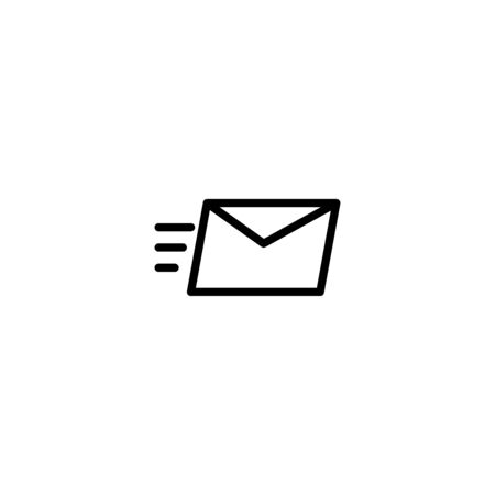 Thin line icon Sending mail icon, Envelope fast delivery, Pictogram flat outline design for apps , Isolated on white background, Vector illustration, editable stroke, 48x48 pixel perfect Zdjęcie Seryjne - 144027235