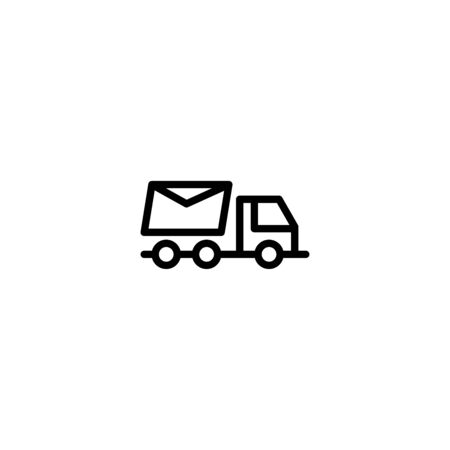 Thin line icon Truck . Delivery Truck symbol vector sign isolated on white background. Simple logo vector illustration for graphic and web design, editable stroke . 48x48 pixel perfect Ilustracja